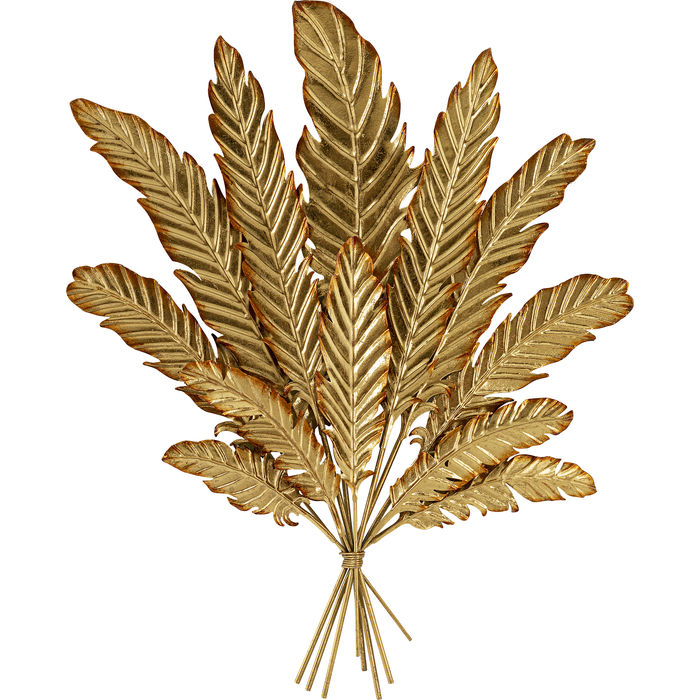 Wall Decoration Leaf Bouquet Gold