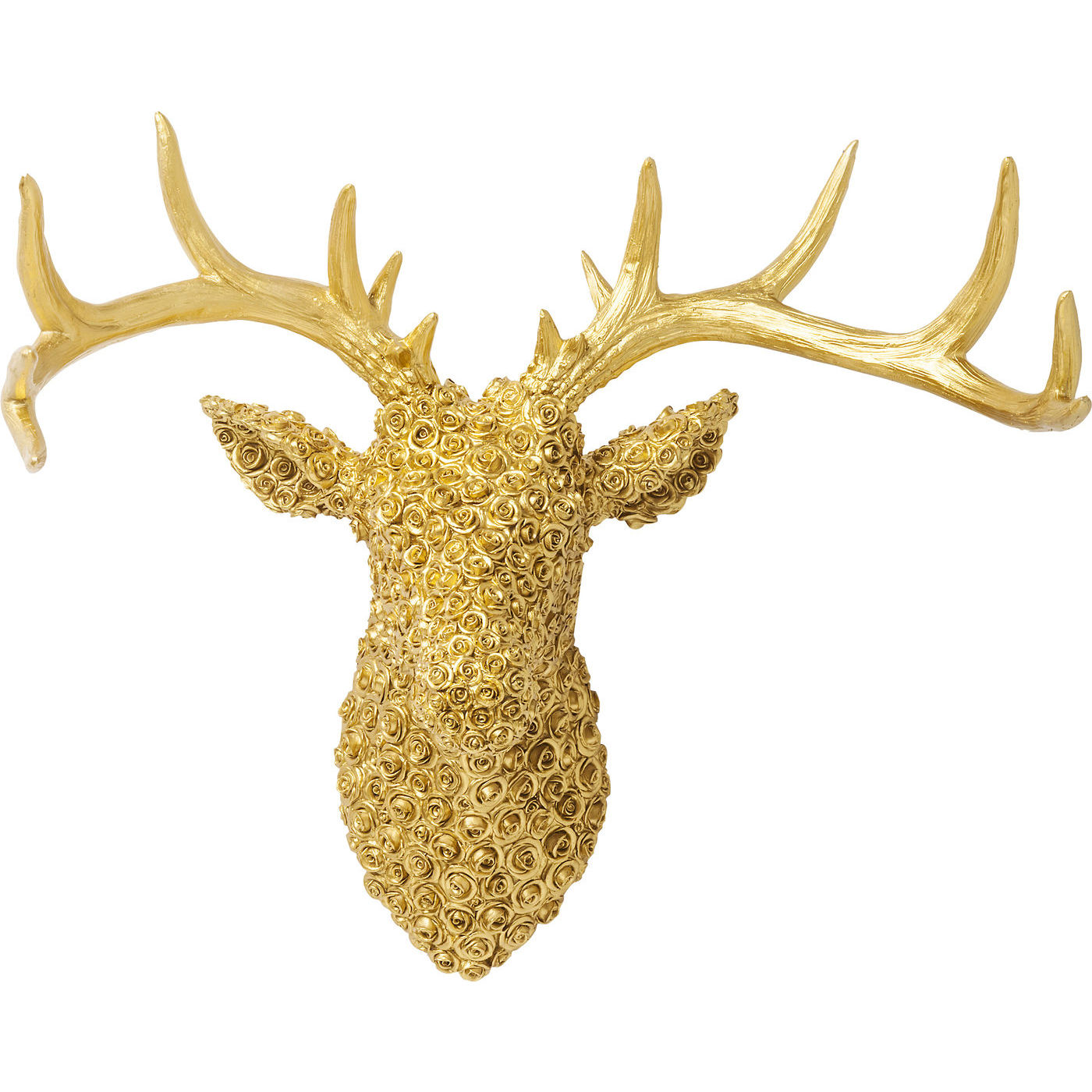 Deco Antler Deer Roses Gold - KARE Tallinn