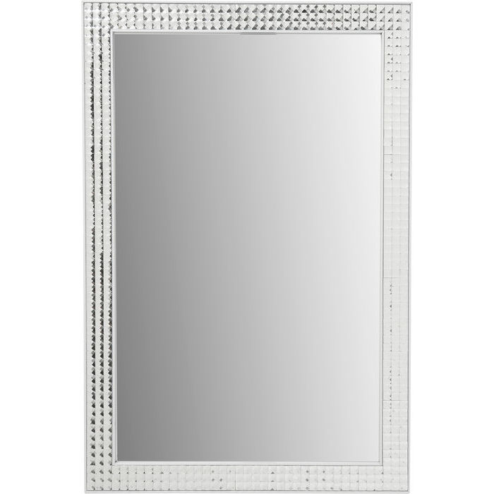 Mirror Crystals Steel White 80x60cm