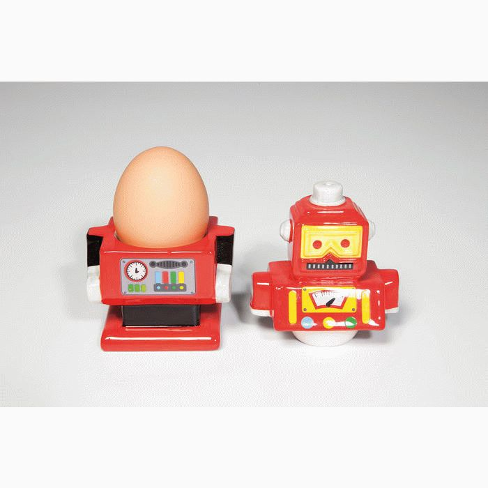 Egg Cup Robot (2-part) Assorted