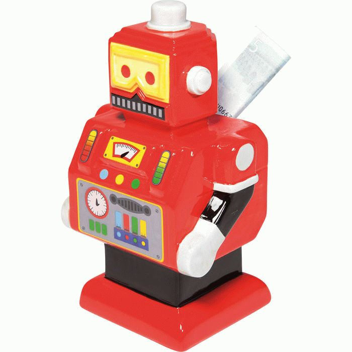 Money Box Robot Colore Assorted