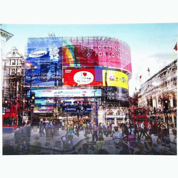 "Taulu ""Piccadilly Circus"", 120x160cm"