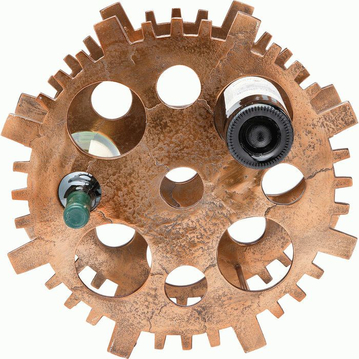 Wine Rack Gear Copper