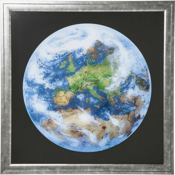 Picture Frame Earth View 84x84cm - KARE Tallinn