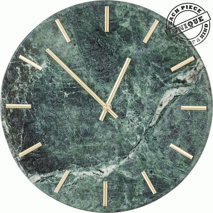 Wall Clock Desire Marble Green