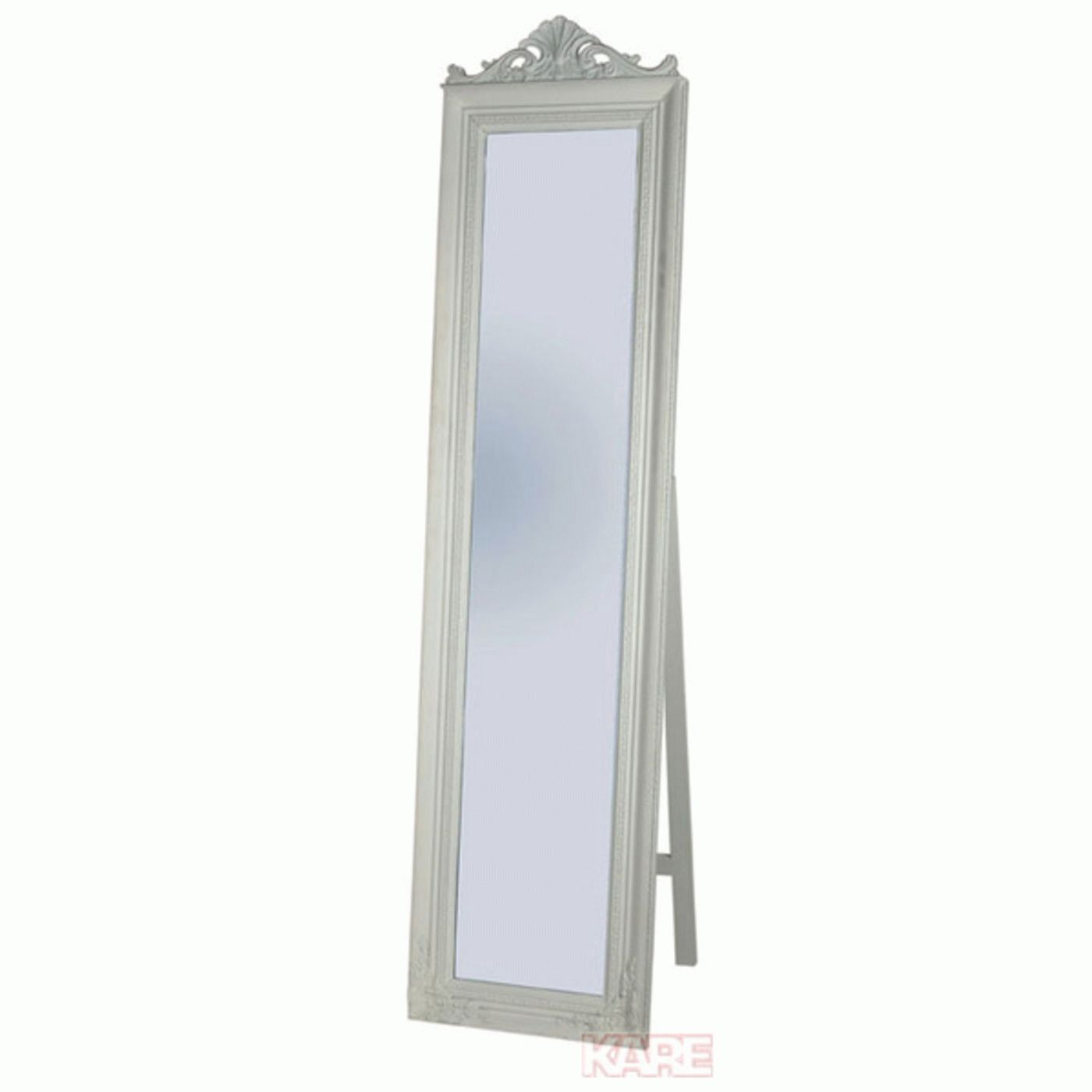 Standing mirror baroque white kare design for White long standing mirror