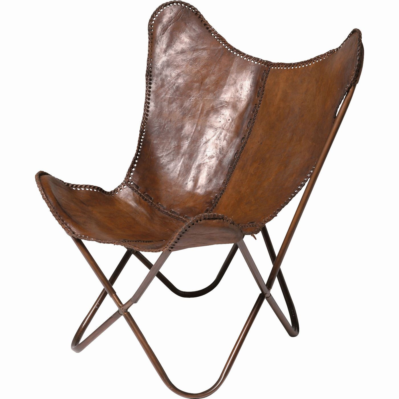 Arm Chair Butterfly Brown