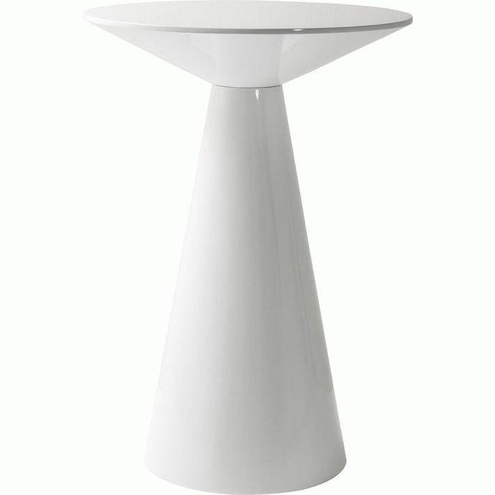 Merveilleux Bar Table Backstage White Glossy Ø70cm. NEW