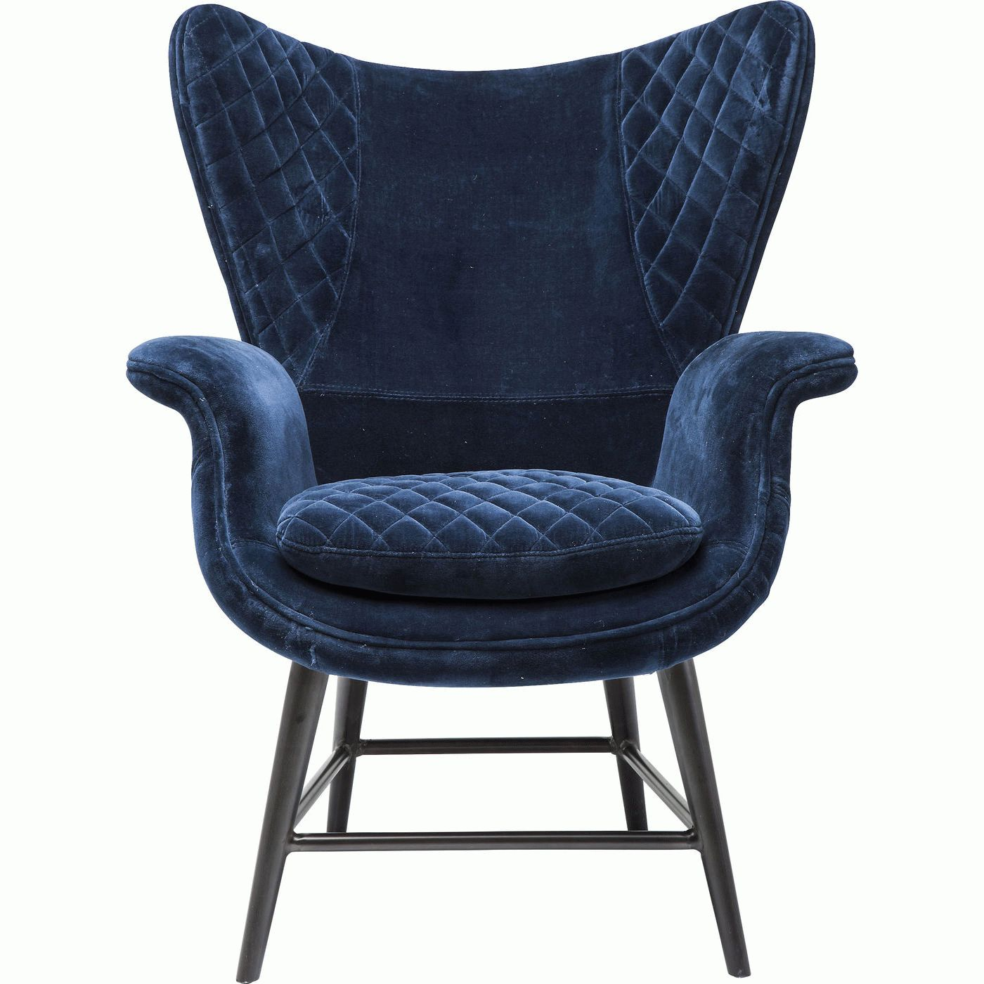 Arm Chair Tudor Blue Velvet