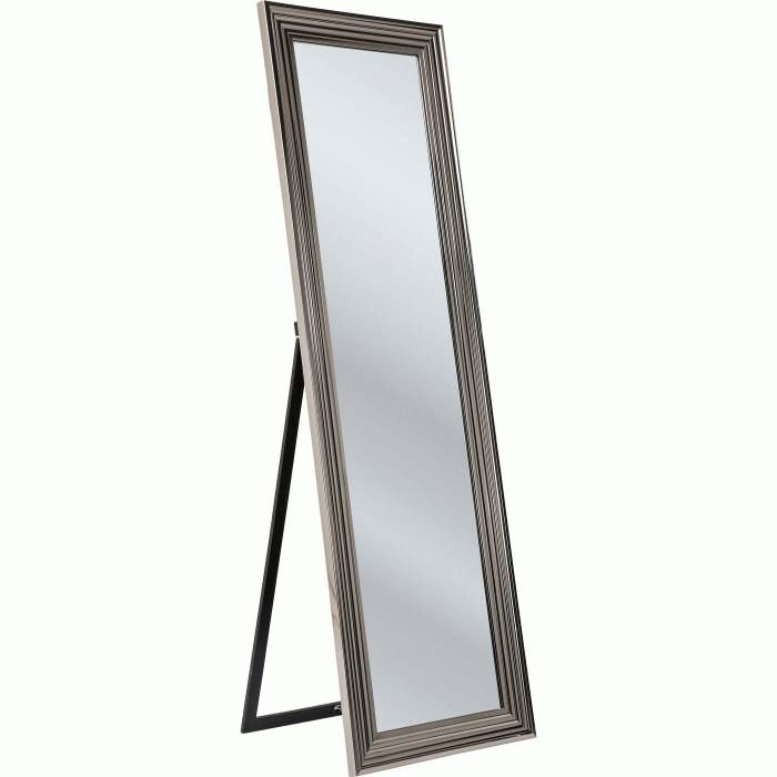 Standing Mirror Frame Silver 180x55cm