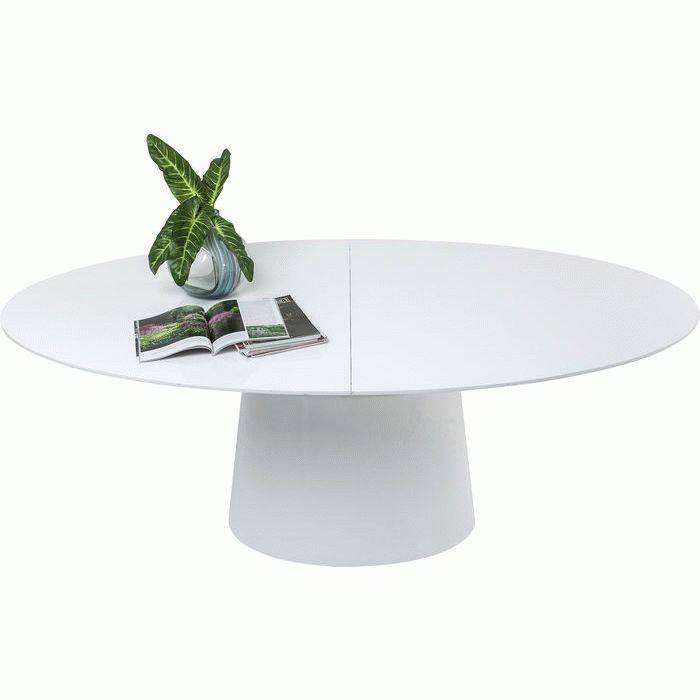 Extension Table Benvenuto White 200(50)x110cm