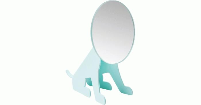 Table Mirror Dog Face Mint