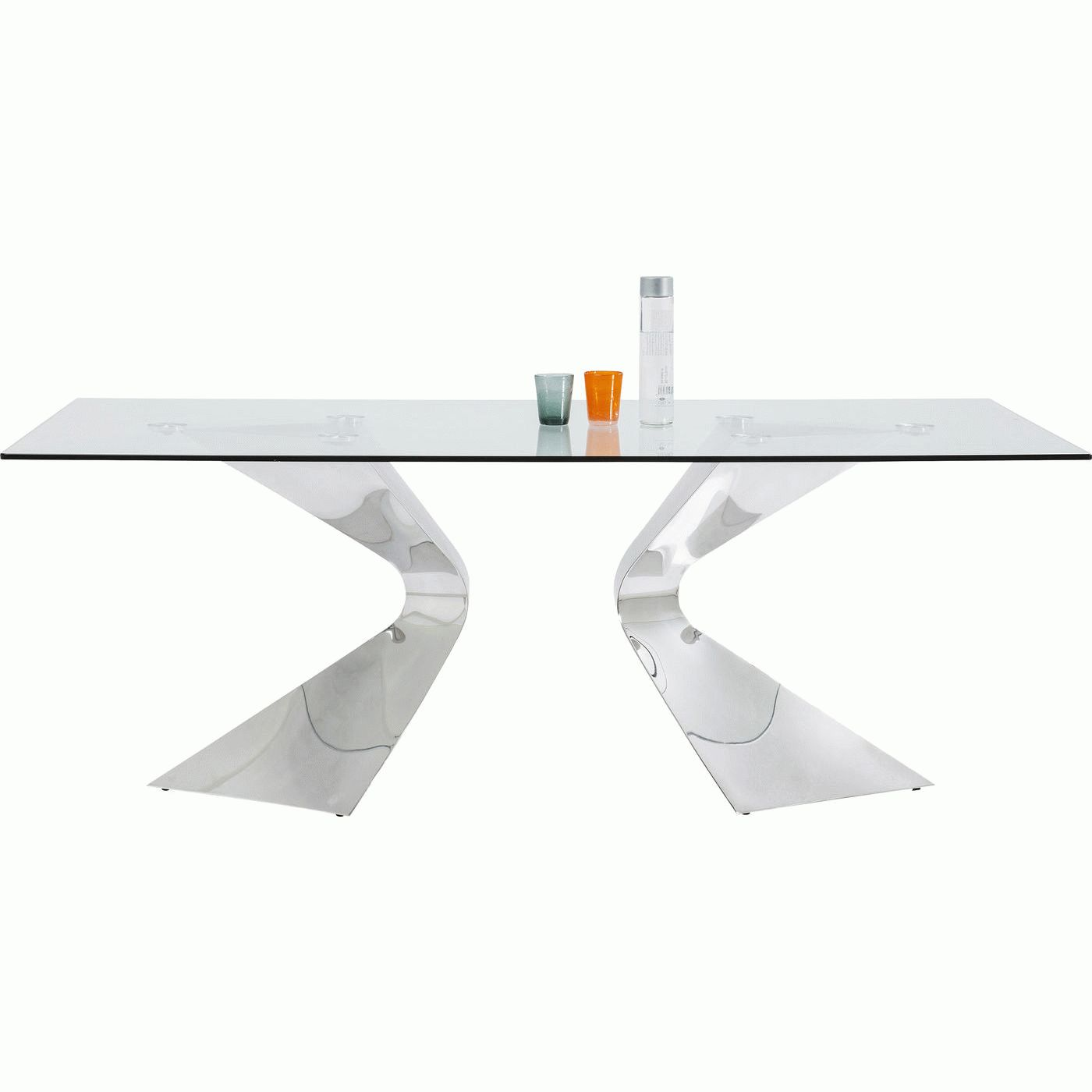 Table Gloria Chrome 200x100cm